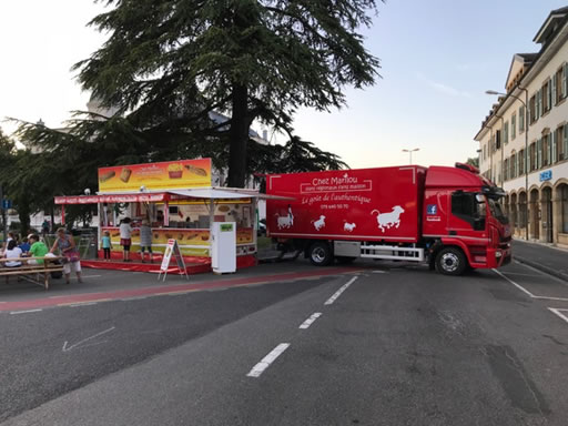 camion et stand
